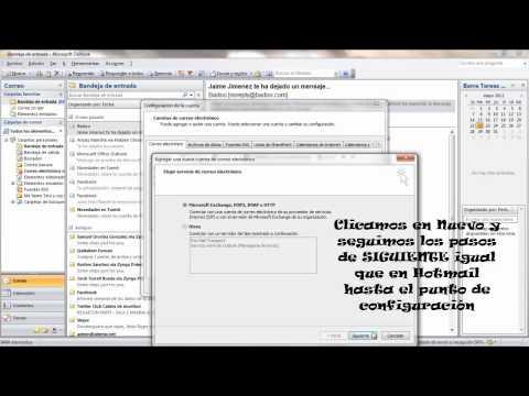 Como configurar cuentas en Outlook 2007