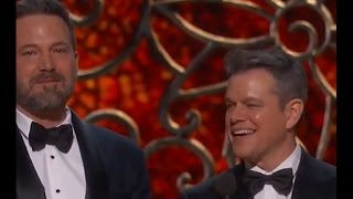 Matt Damon Played Off Stage by Jimmy Kimmel | Oscars 2017 - ABCNEWS