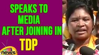 Giddi Eswari Speaks To Media After Joining In TDP | Mango News - MANGONEWS