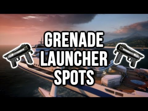 Black Ops 2: Hijacked Grenade Launcher / Noob Tube Spots (Domination & Search and Destroy)