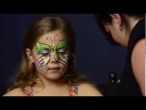 Schmetterling schminken mit Kiomi Kids / Kinderschminken Anleitung