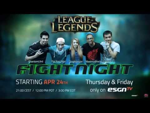 ESGN TV's Fight Night - League of Legends Edition - Teaser Clip 01