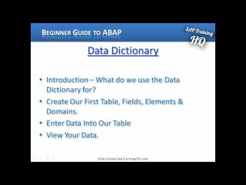 Beginners Guide - Learn SAP ABAP - SE11 Data Dictionary - Introduction
