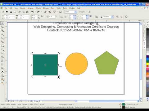 Learn CorelDRAW GRAPHICS SUITE X4 & 9 in URDU - IACA Lesson 4