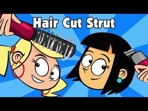 Kids Song - HAIR CUT STRUT - children's music line dance video by Preschool Popstars