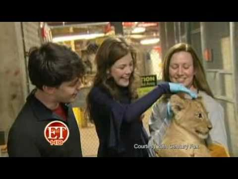Skandar Keynes and Georgie Henley at the Smithsonian Zoo