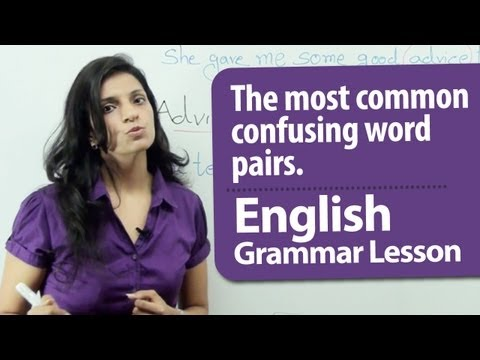 English Grammar Lesson : 6 Commonly Confused Word Pairs. | Vocabulary and Slangs in English.