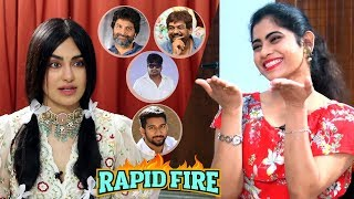 RAPID FIRE - Adah Sharma about Trivikram, Puri Jagannadh, Harish Shankar, Prasanth Varma & others - IGTELUGU