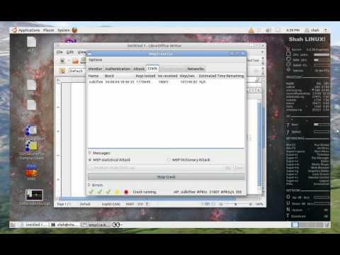 Cara crack WEP password wifi menggunakan WepCrack GUI di dalam ubuntu 11.04