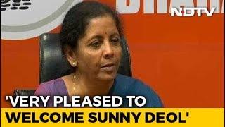 Nirmala Sitharaman, 59, Calls Sunny Deol, 62, Young Actor - NDTV