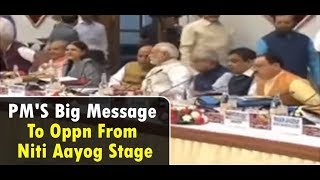 PM'S Big Message To Oppn From Niti Aayog Stage | NewsX - NEWSXLIVE