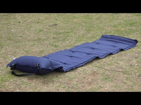 Outdoor Camping Thick Automatic Inflatable Mattress Self-Inflating Tent Mat Picnic Mat with Pillow