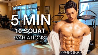 10 SQUAT VARIATIONSfeat. 5 min LOWER BODY Workout