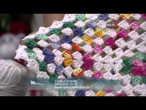 Mulher.com 15/12/2014 - Tapete de Croche por Vitória Quintal - Parte 2