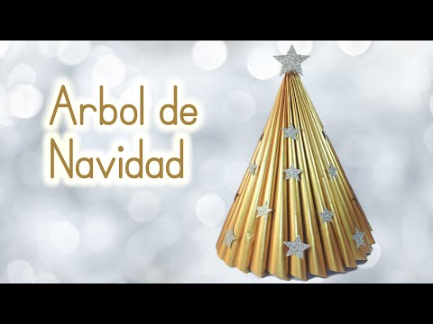 Manualidades para Navidad: ARBOL de NAVIDAD reciclando una revista - Innova Manualidades