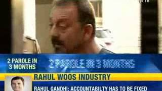 Actor Sanjay Dutt comes out of jail on parole - NewsX - NEWSXLIVE
