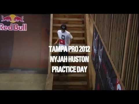 Nyjah Huston Tampa Pro 2012 (practice day)