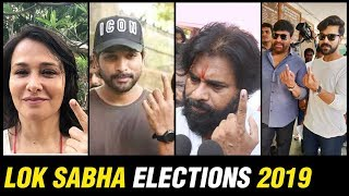 Tollywood Superstars Cast Their Votes In Telangana Polls - RAJSHRITELUGU