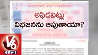 Affidavits - New Plan Of seemandhra Leaders - V6NEWSTELUGU