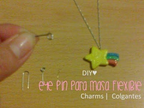 DIY♥ Eye Pin para accesorios de pasta de sal o masa flexible   Charms