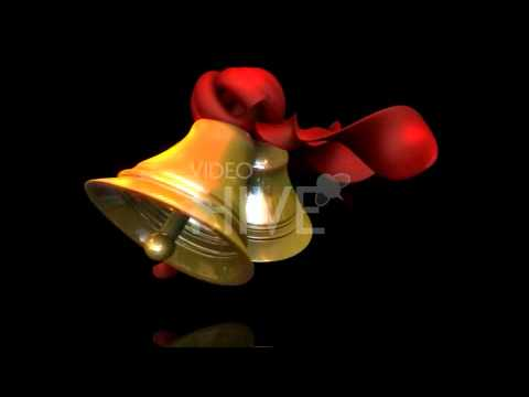 Beautiful Holiday Christmas Bell Animation Loop with transparency
