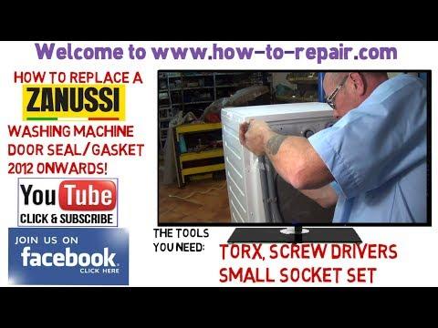 How to replace zanussi washing machine door seal 2012 onwards