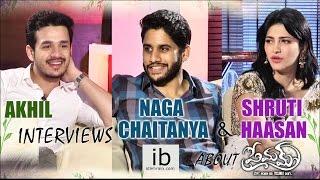 Akhil interviews Naga Chaitanya and Shruti Haasan about Premam - idlebrain.com - IDLEBRAINLIVE