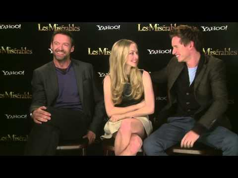 Les Miserables interview with Hugh Jackman, Eddie Redmayne and Amanda Seyfried