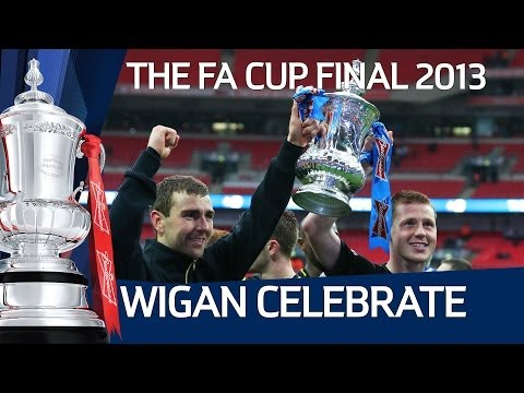 Wigan Athletic win the FA Cup at Wembley - The post match celebrations