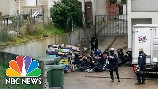 'Shocking' Video Shows Mass Arrest Of French High School Students | NBC News - NBCNEWS