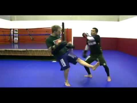 Basic Muay Thai Pad Drills: Inside Left Kick Counters