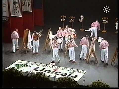 Sesión de Final, la agrupación El que vale, vale actúa hoy en la modalidad de Chirigotas.