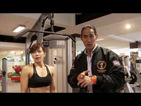 Ade Rai on Back Exercise with Lat Pull Down