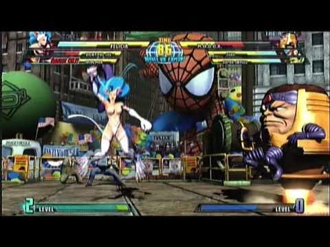 Marvel vs Capcom 3 Gameplay #02 - Viewtiful Joe, Felicia, Ironman