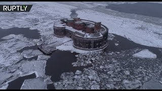 Eerie drone footage: Russia's 'Plague Fort' where scientists battled death - RUSSIATODAY