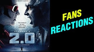 2.0 Release First Day Fans Hungama In Mumbai | Rajinikanth | Akshay Kumar | Amy Jackson - RAJSHRITELUGU