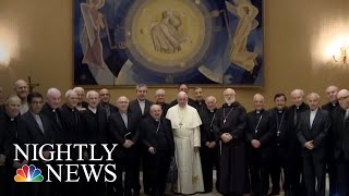 Pope Francis Admits Catholic Church Leaders Failed To Address Priest Sex Abuse | NBC Nightly News - NBCNEWS
