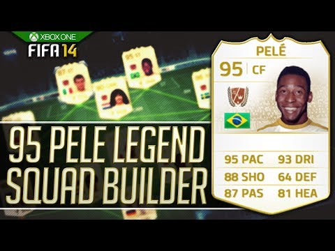 FIFA 14 - PELE! INSANE 25 MILLION COIN FULL LEGEND SQUAD BUILDER!