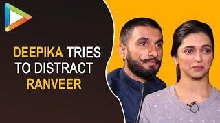Must Watch: Ranveer Singh gets DISTRACTED as Deepika Padukone touches him!!! - HUNGAMA