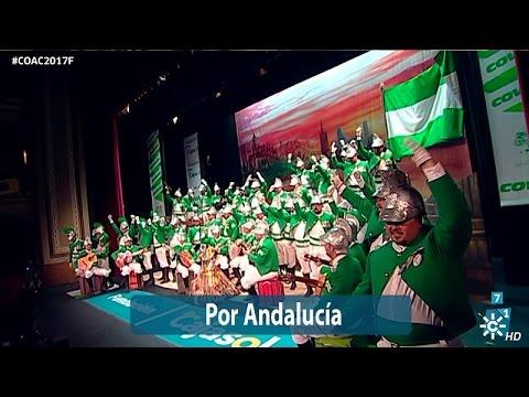 La agrupación Por Andalucía llega al COAC 2017 en la modalidad de Coros. En años anteriores (2016) concursaron en el Teatro Falla como Sigo siendo el rey, consiguiendo una clasificación en el concurso de Segundo premio.