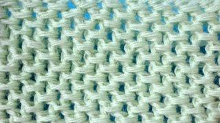 Тунисская сеточка  - тунисское вязание -  узор 13 -  Tunisian crochet
