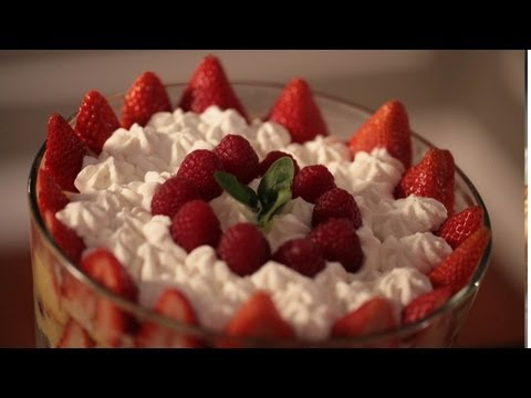 Red Berry Trifle No Bake Dessert Recipe || KIN EATS