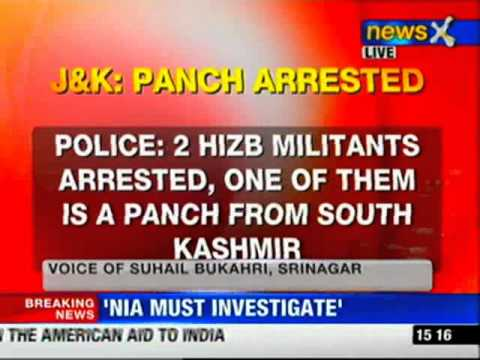 J&K: Two Hijbul militants arrested, one of them is a panch