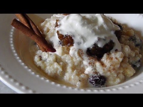 Cooked Rice Pudding Recipe Video