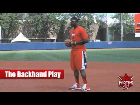 Fielding Tips: The Backhand Play with Brandon Phillips