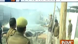 Prayagraj: Fire breaks out in a camp of Digambar Akhada at Kumbh Mela - INDIATV