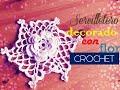 Navidad: servilletero con mantel a crochet (diestro)