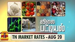 Vilai Pattiyal 20-08-2014 Market Rates of Essential Commodities in Tamilnadu (20/8/14) – Thanthi TV