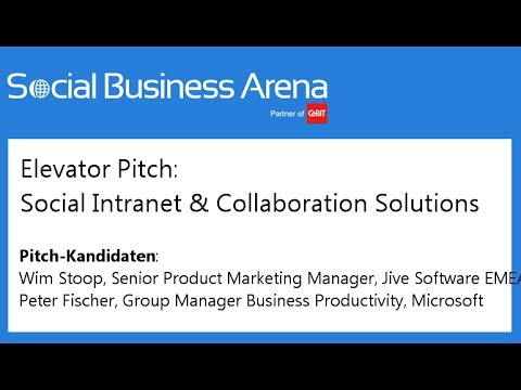 #cebitsba 2014 | Elevator Pitch: Social Collaboration Lösungen mit Jive Software & Microsoft