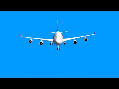 Blue Screen effect- airplane flying different turns